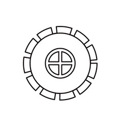 sketch silhouette gear wheel pinion icon vector image vector image