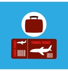 travel concept airline ticket vector image vector image