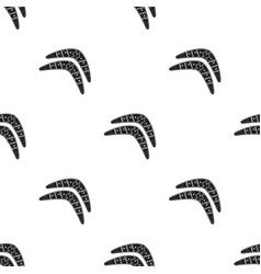 australian boomerang icon in black style isolated vector image
