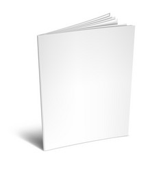 empty white book or magazine vector image vector image