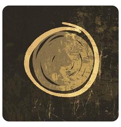 grunge circle symbol hand drawn vector image vector image