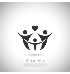 Happy family icon logo vector image vector image