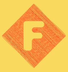 letter f sign design template element red vector image