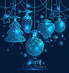 New Years greeting card merry Christmas vector image vector image