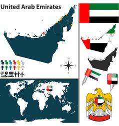 United Arab Emirates map world vector image vector image