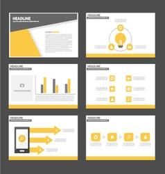 Black yellow presentation templates Infographic vector image vector image