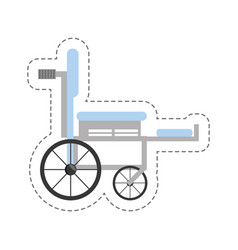 cartoon wheelchair medical equipment icon vector image