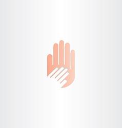 human hand icon element vector image