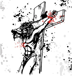 jesus ink vector image