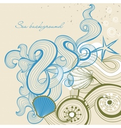 Sea and beach background vector image vector image