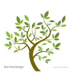 Stylized tree with branches and leaves eco vector image vector image