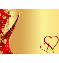 wavy heart frame vector image vector image