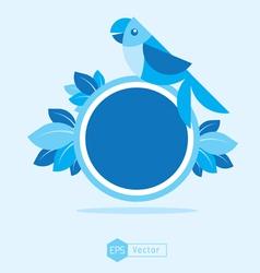 blue Bird Sign 2 vector image