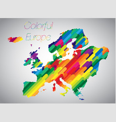 colorful europe vector image
