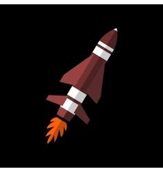Rocket flat sign vector