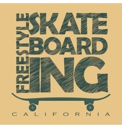 Skateboarding t-shirt graphics vector image vector image