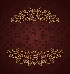 vintage design for greeting card - vector image vector image