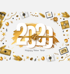 2020 happy new year background vector