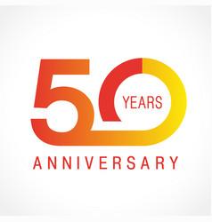 50 anniversary classic logo vector
