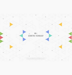 abstract geometric triangle color minimal vector image