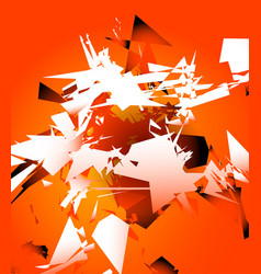 Abstract shattered digital art with random edgy vector