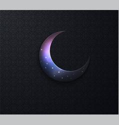 arabic ramadan on black backgroun moon stars vector image