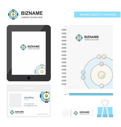 atoms business logo tab app diary pvc employee vector image