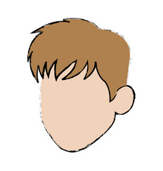 cartoon head man profile avatar vector image