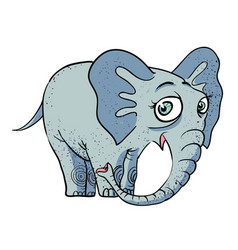 Cartoon image of cute elephant vector