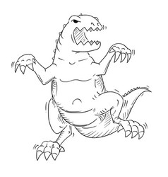 Cartoon of monster tyrannosaur or dinosaur vector