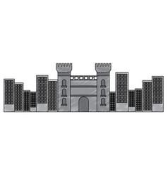 Catalonia castle monument famous historic vector