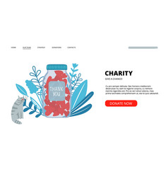 charity landing page vector image