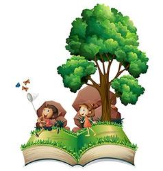Children book vector image