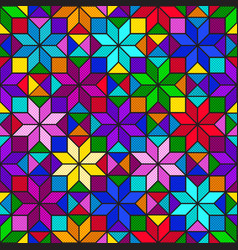 colorful bright mosaic seamless pattern of vector image
