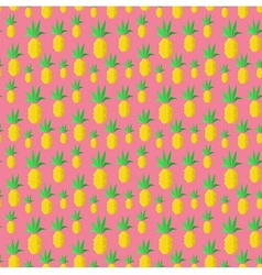 Colorful summer pineapples vector image