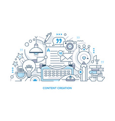 Content creation line vector