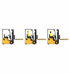 Counterbalance forklift vector