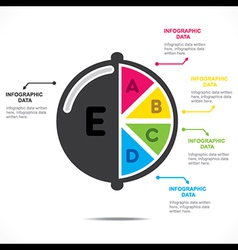 Creative fruit info-graphics design vector