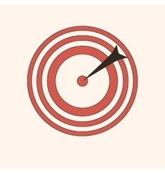 Darts bullseye icon game fun red circle vector
