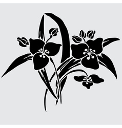Decorative lilies vector