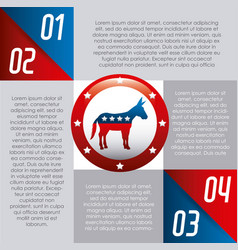 Democrat party usa isolated icon vector