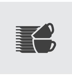 Dishes icon vector image