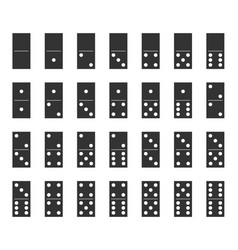 dominoes bones set domino tiles full set vector image