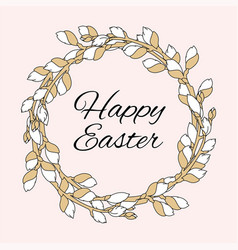 easter great religious holy holiday wreath vector image