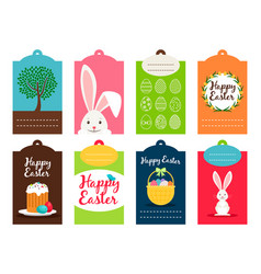 easter tag collection vector image vector image