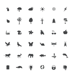 eco icons set on white background vector image