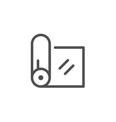 Fabric roll line icon vector