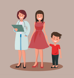 Family dentist or doctor vector