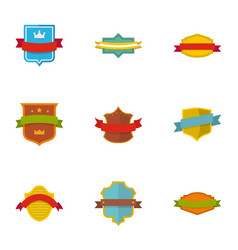 flag icons set flat style vector image