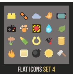Flat icons set 4 vector